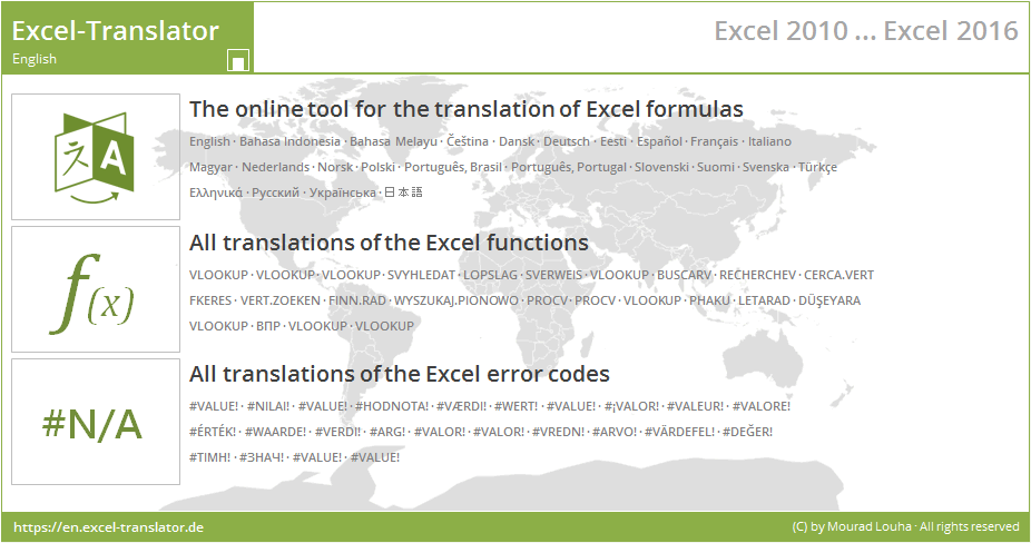 Home • Excel-Translator